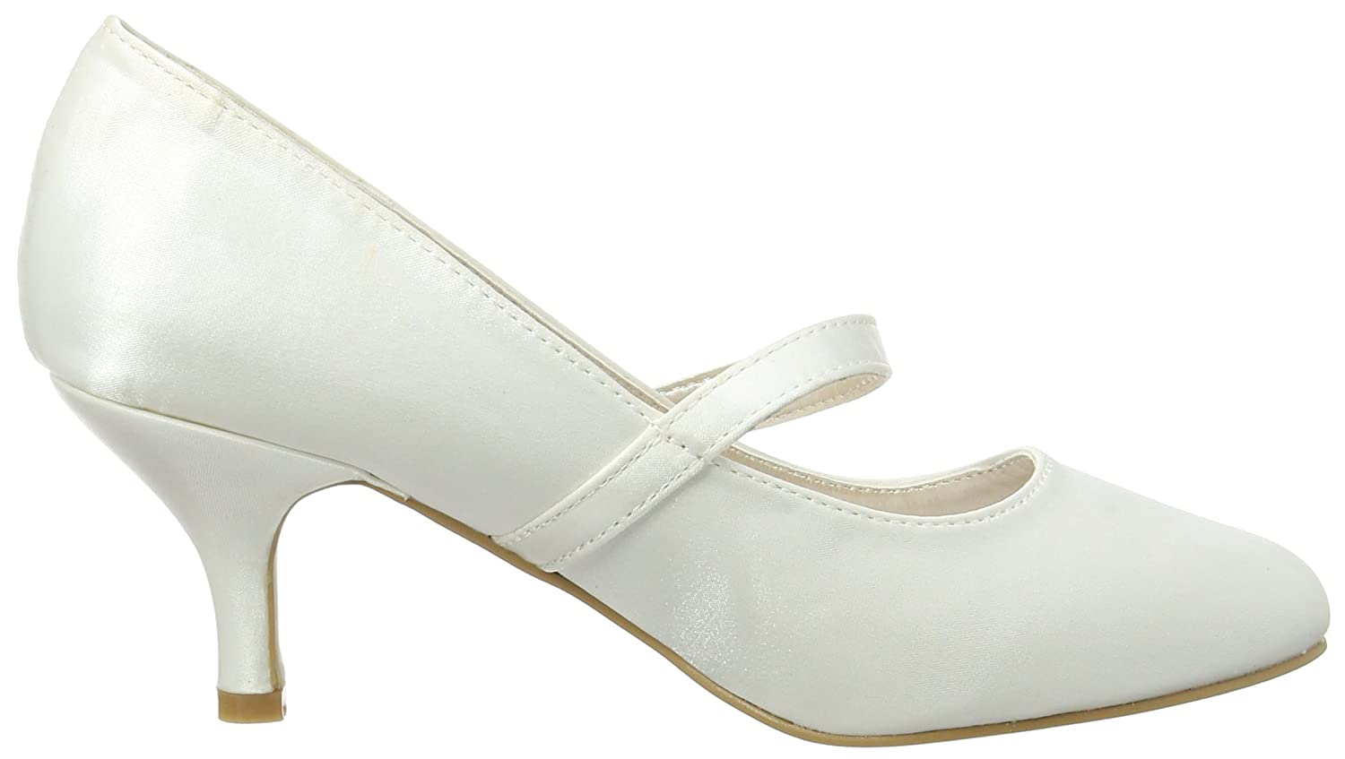 Spot On Anne Michelle Low Heel 'Wedding' Court, Women's Mary Jane:  Amazon.co.uk: Shoes & Bags