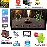 DishyKooker 9 Inch / 10.1 Inch 2DIN Android Car Multimedia Player GPS Autoradio Blueteeth WiFi Car Stereo Radio MirrorLink 2Din Car Audio Radio Camera 9 Inches AutoAccessory