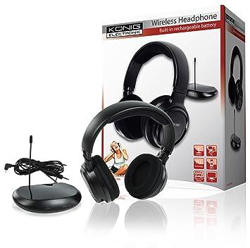 Casco - Auriculares inalámbrico recargable puerta 100 M TV tele Television MP3 iPod: Amazon.es: Instrumentos musicales