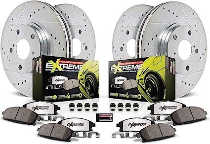 Power Stop K1715-26 Front /& Rear Z26 Street Warrior Brake Kit Chrysler Dodge
