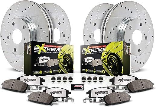 Power Stop K4229-26 Front /& Rear Z26 Street Warrior Brake Kit BMW