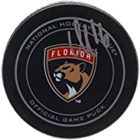 $59 » Aleksander Barkov Florida Panthers Autographed Official Game Puck - Fanatics Authentic Certified - Autographed NHL Pucks