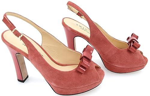 O Set Blu Decolte Scarpa Rosso Fragola Sandalo Elettrico Donna Twin H1SqTwH