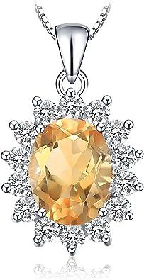 JewelryPalace El/égant Diana Princesse Kate Middleton Collier Pendentif Femme Cha/îne en Argent Sterling 925