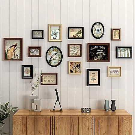 Conjunto de Pared de Collage de Fotos de Madera | (16 Foto) Cuadro de combinación de