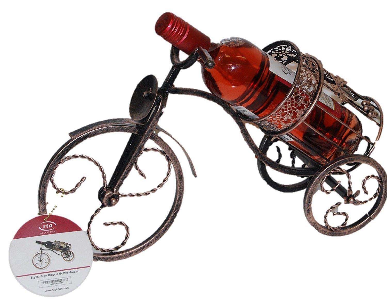 RTA Elegante Hierro Bicicleta Soporte para Botella de Vino Soporte para Botellas de Vino encimera