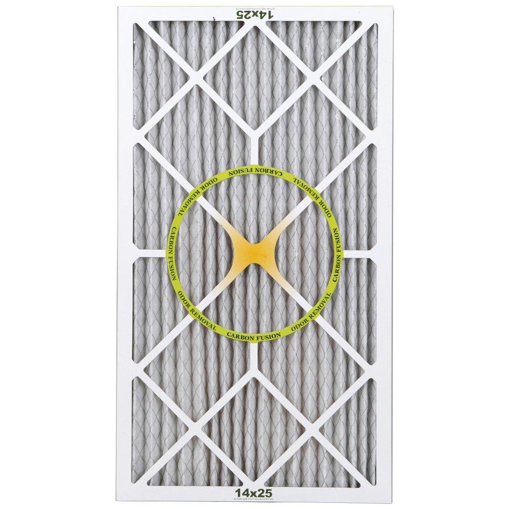 BestAir PF1425-1 Furnace Filter, 14'' x 25'' x 1'', Carbon Infused Pet Filter, MERV 11, 6 pack