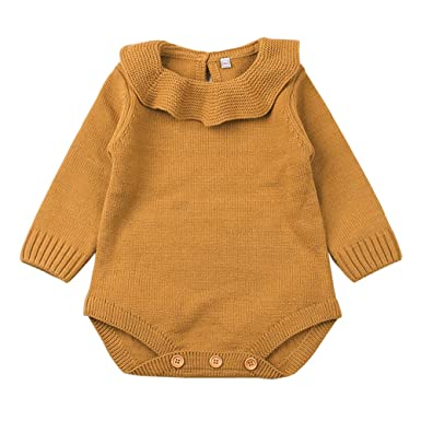 606767c74 Amazon.com  XARAZA Newborn Baby Girls Princess Knitted Sweater ...