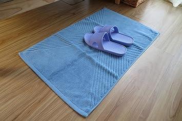 Toallas de baño de algodón y alfombra lavable alfombrilla de baño piso ducha alfombra absorbente para baño y alfombra 45 x 75 cm: Amazon.es: Hogar