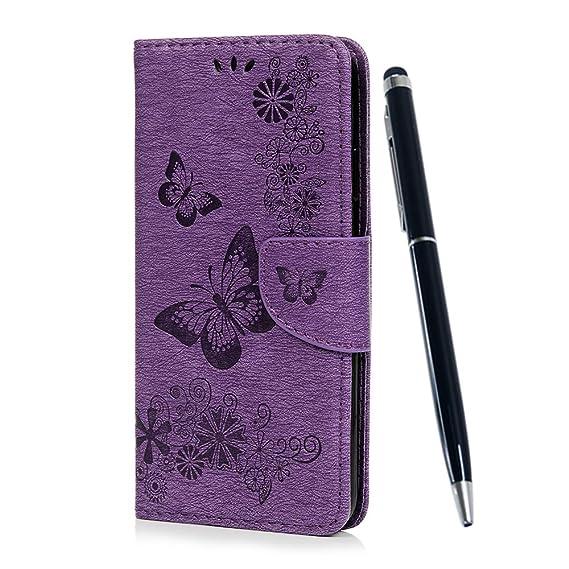 iphone xr wallet case purple stylus