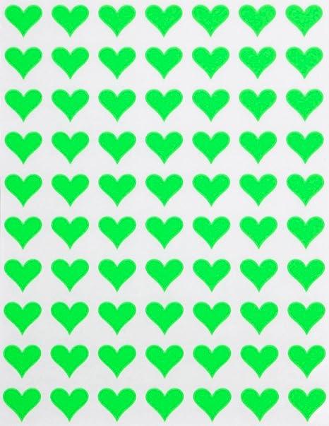"Turquoise 1/"" Heart Stickers SHOWER Wedding Envelope Seals School arts /& Crafts"