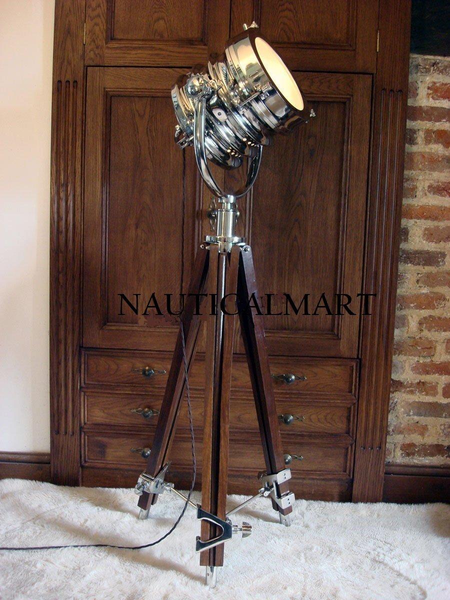 Studio Adjustable Tripod Movie Spot Floor Lamp Modern Searchlight Replica Modern by THORINSTRUMENTS