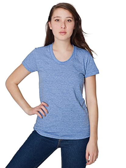 d31ab817e85 Amazon.com  American Apparel Women Tri-Blend Short Sleeve Women s Track T-Shirt   Clothing