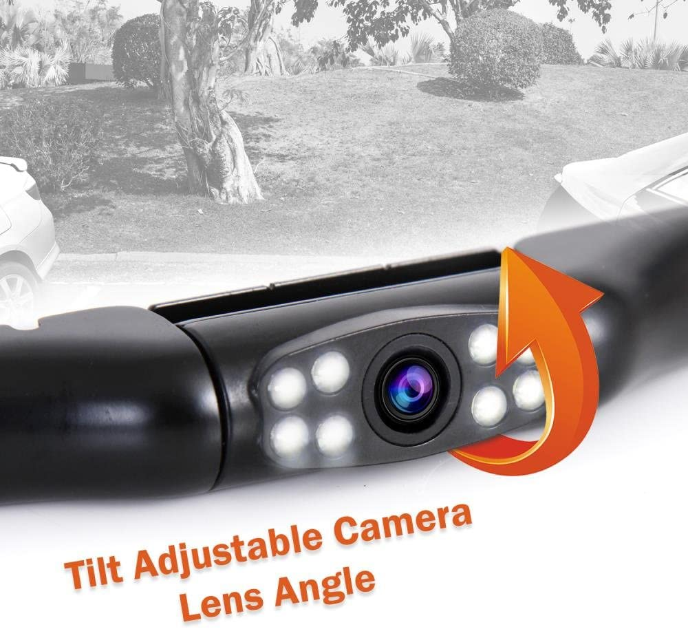 Slim Bar Cam Size Tilt Adjustable Lens Angle w// Night Vision Illumination and IP-67 Waterproof for Front or Mounted Above the Rear License Plate PLCM2710 Pyle Compact Vehicle Backup Camera