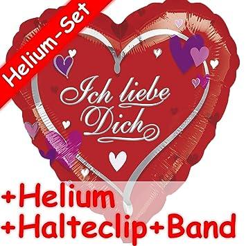 Folienballon Herz Love Liebe Heliumballon Lüftballon Valentinstag Geburtstag