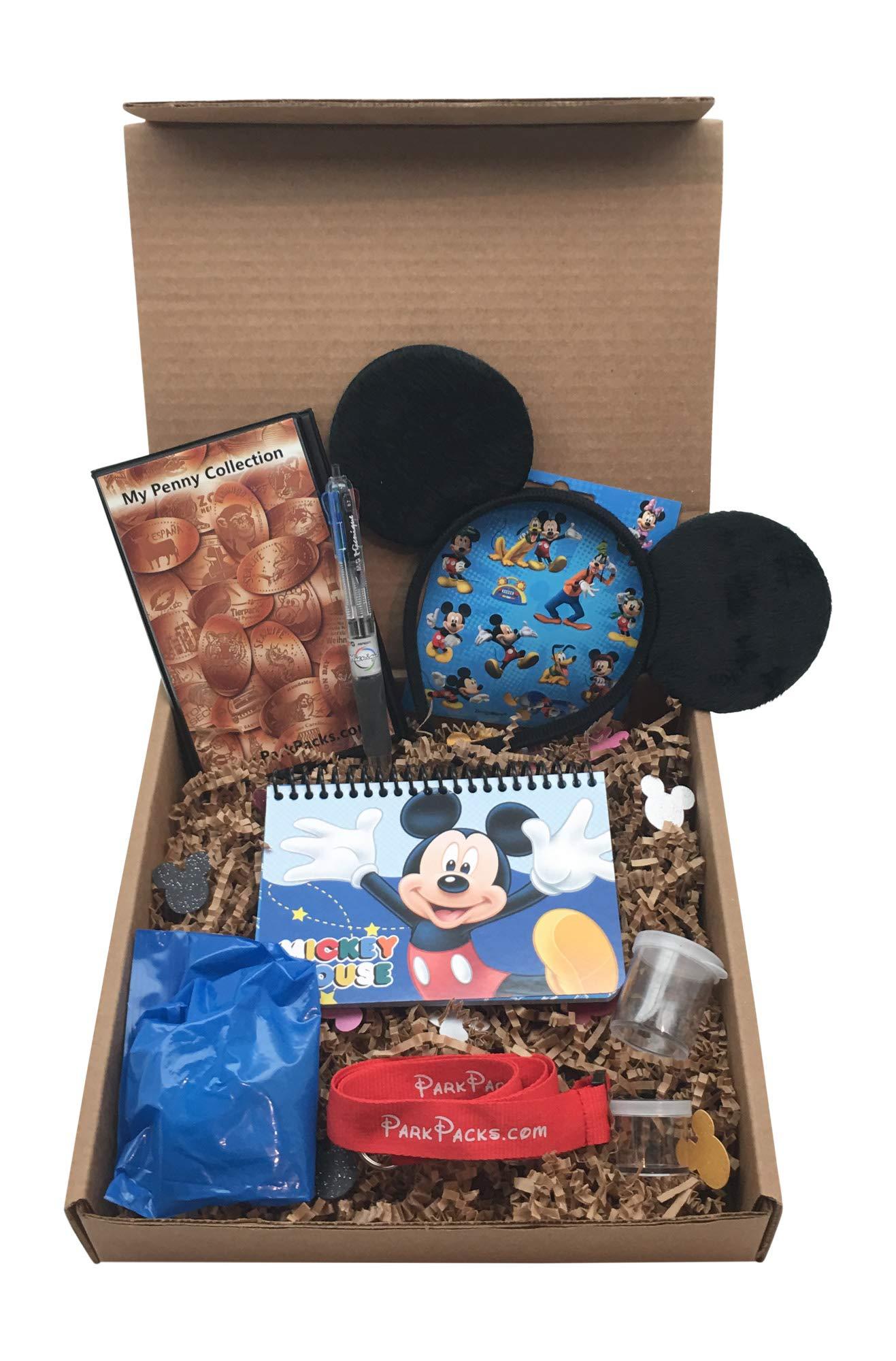 Mickey Disney Vacation Set Mouse Ears Headband Official Autograph Book & Pen