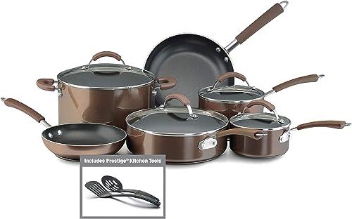 Farberware 10570 Millennium Nonstick Cookware Pots and Pans Set, 12 Piece