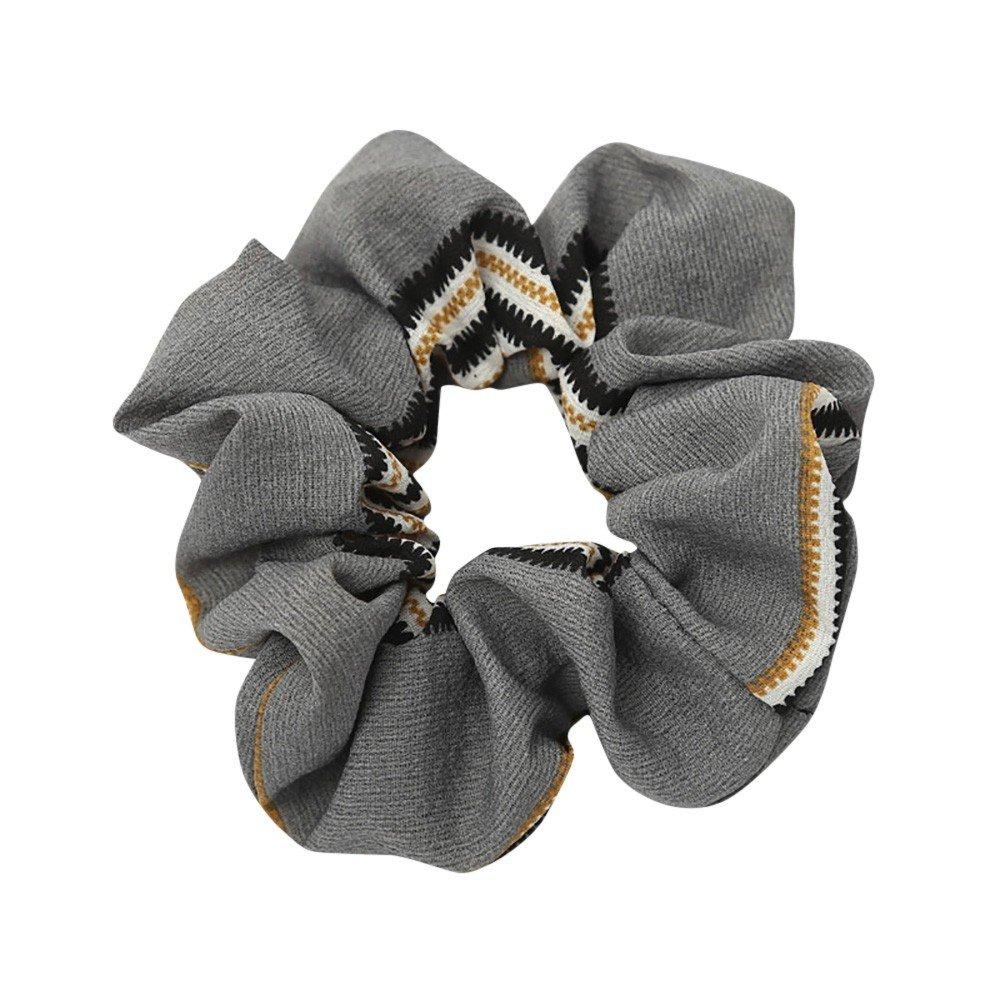 Wenjuan Women Elastic Hair Rope Ring Tie Scrunchie Ponytail Holder Hair Band Headband