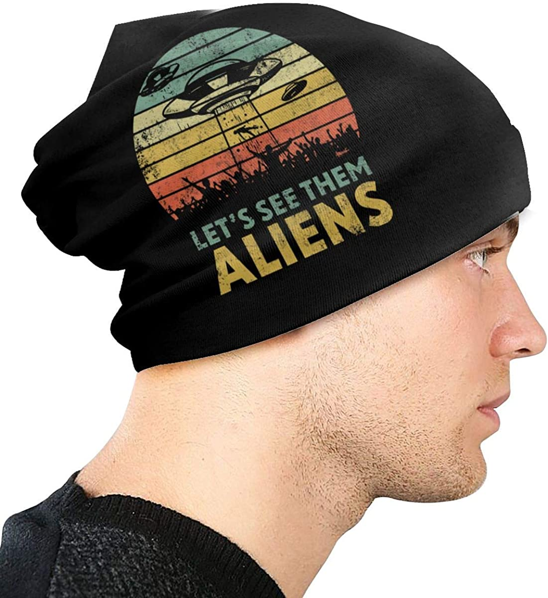 Area 51-Lets See Them Aliens Unisex Warm Hat Knit Hat Skull Cap Beanies Cap