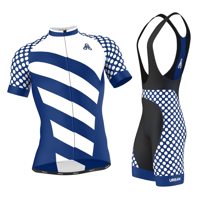 Urban Cycling Apparel APPAREL メンズ B0757CHVGK X-Large|Elite Royal Jersey & Bib Shorts Set Elite Royal Jersey & Bib Shorts Set X-Large