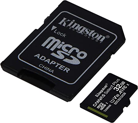 SanFlash Kingston 32GB React MicroSDHC for Aukey DR02 with SD Adapter 100MBs Works with Kingston