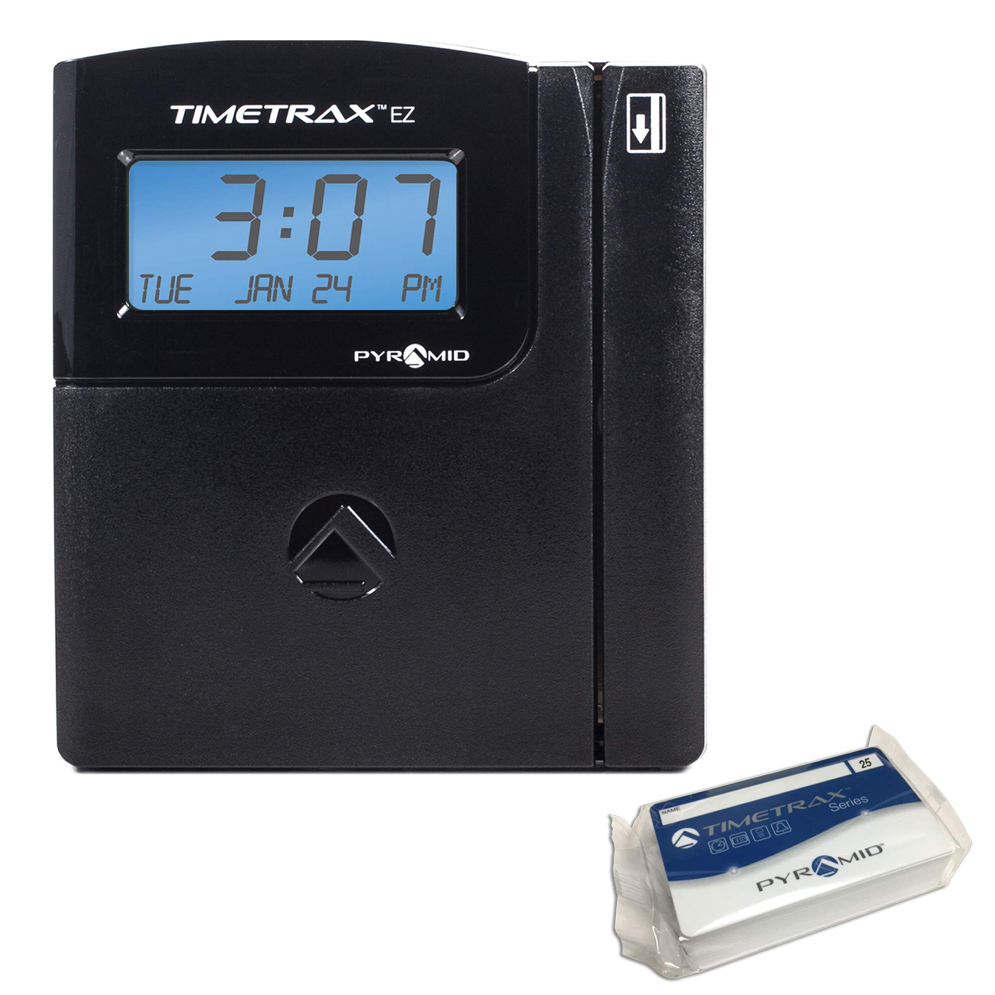 Pyramid TTEZEK TimeTrax Automated Swipe Card Time Clock System with Software, Black by Pyramid Time Systems