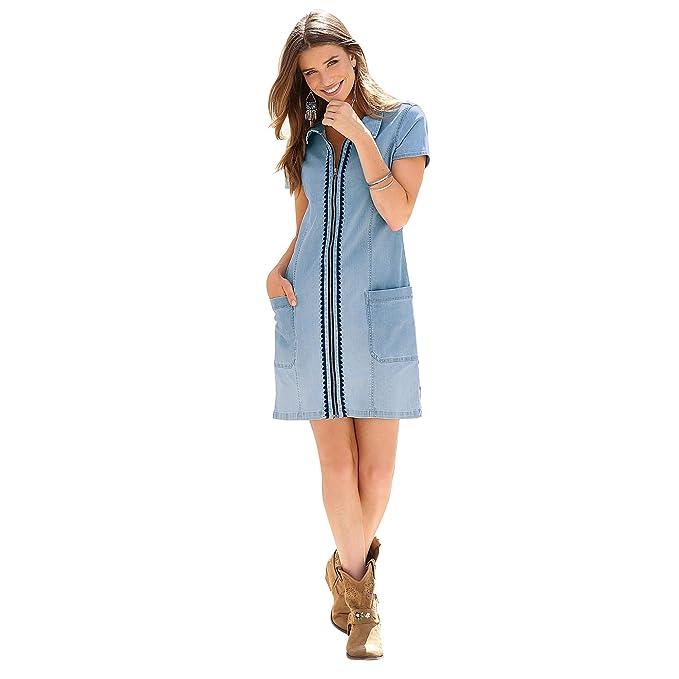 VENCA Vestido Corte Camisero Mujer by Vencastyle - 013247,Azul Claro,38