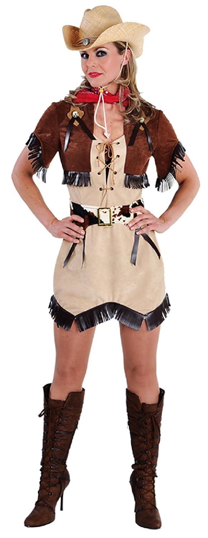 M212145 brauntöne Damen Cowgirl Cowgirl Damen Kleid Western Kostüm b723fc