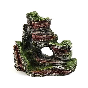 Sourcingmap® Resina Cave Mountain Piedra Pescado Acuario del Tanque De Ornamento Paisaje De Rocalla Decoración: Amazon.es: Productos para mascotas