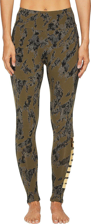 6746f2bf4db32 PUMA Women's Rebel Leggings Olive Night/Gold Print Small: Amazon.co.uk:  Clothing