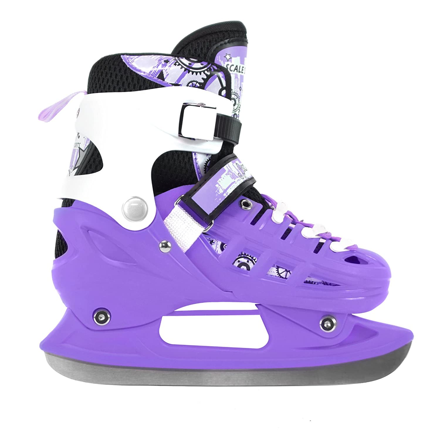 Adjustable Inline Skates Ice Skates Combo Pack Gift Boxed for Kids Size from 13.5 Junior to 9 Adult