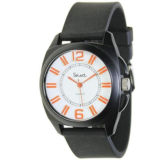 Select Rt-10-3 Reloj Analogico para Hombre Caja De Metal Esfera Color Blanco: Amazon.es: Relojes