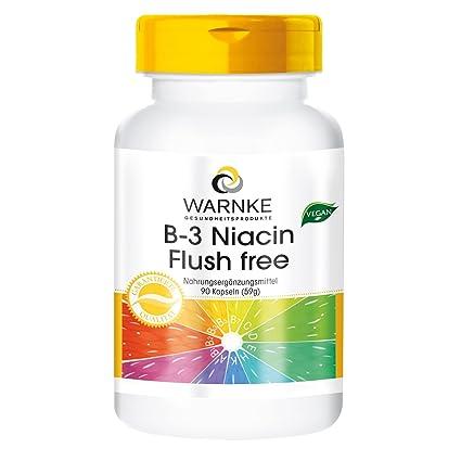 Niacina (Vitamina B3) sin rojeces – de Warnke Vitalstoffe – buena asimilación – 90