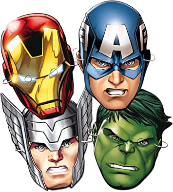 ALMACENESADAN 0913, Pack 6 caretas Avengers para Fiestas y ...