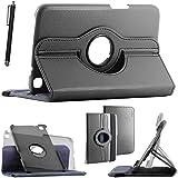 ebestStar - pour Samsung Galaxy Tab 3 8.0 SM-T310 - Housse Coque Etui PU cuir Support rotatif 360° + Stylet tactile, Couleur Noir [Dimensions PRECISES de votre appareil : 209.8 x 123.8 x 7.4 mm, écran 8'']