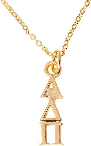 Alpha Delta Pi Sorority 24k Gold Plated Lavalier w// Chain Necklace ADPi