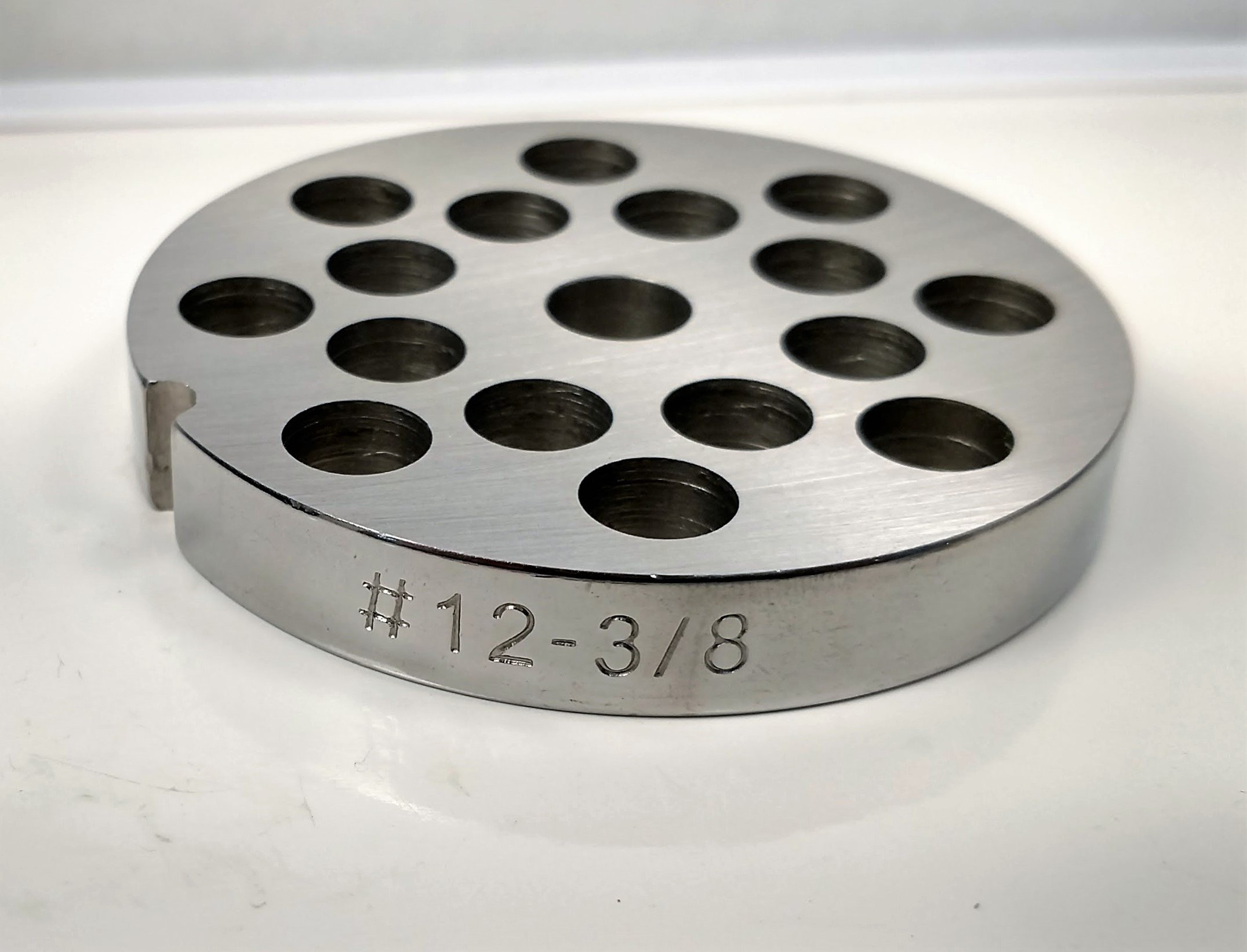 Food Service Knives #12 Meat Grinder Plate (3/8 in.)