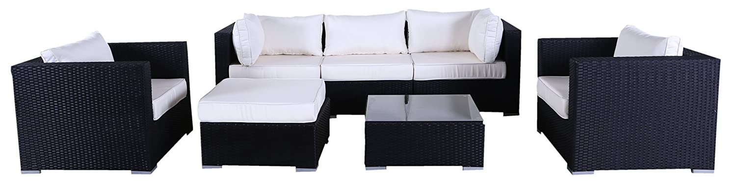 polyrattan lounge set lagos l schwarz g nstig. Black Bedroom Furniture Sets. Home Design Ideas