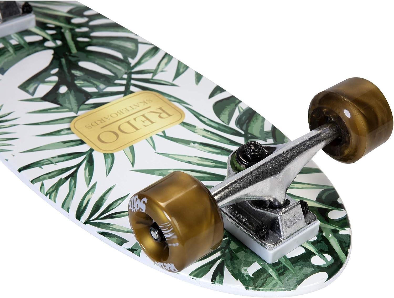 ReDo Skateboard 26 x 7.25 Mini Branson Koi Cruiser Complete Skateboard for Boys Girls Kids Teens
