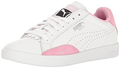 PUMA Women's Match Lo Reset Wn's Fashion Sneaker, White-Prism Pink, ...