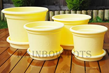 Coloured plastic flower plant pots planter with saucer 13151719 coloured plastic flower plant pots planter with saucer 13151719 mightylinksfo