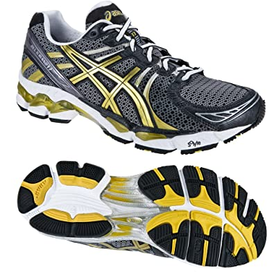separation shoes 77fcd 3e0dc Asics Gel Kayano 17 black gold white (Size  44, 5)  Amazon.co.uk  Shoes    Bags