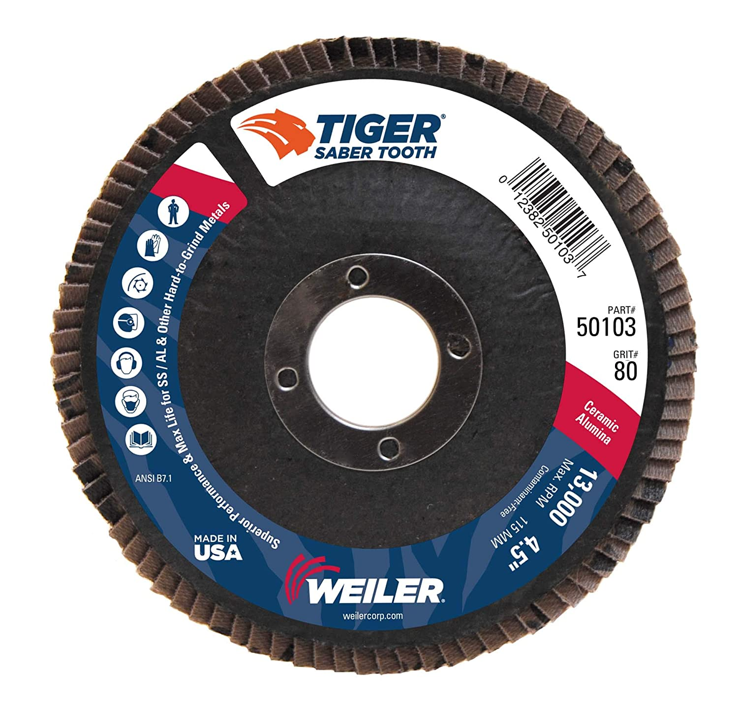 Excellent Weiler Saber Tooth Abrasive Flap Disc Type 29 Round Hole Spiritservingveterans Wood Chair Design Ideas Spiritservingveteransorg