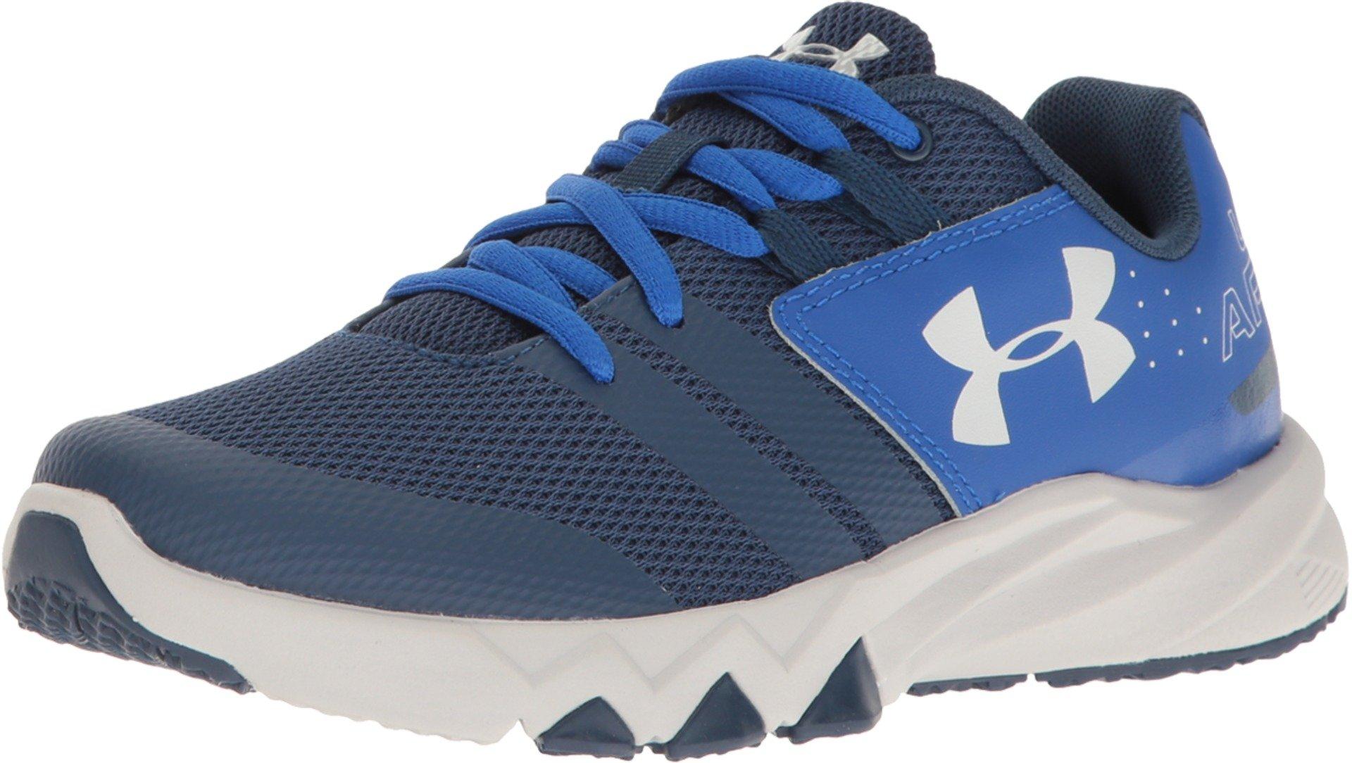 Under Armour Kids Boy's UA BGS Primed (Big Kid) Blackout Navy/Ultra Blue/Aluminum Athletic Shoe
