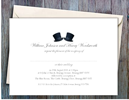Personalised Wedding Invitations And Rsvp Cards 50 Large