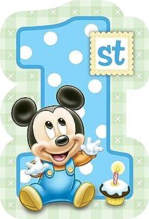 Amazon Com Mickey Mouse 1st Birthday Invitations With Envelopes 8ct