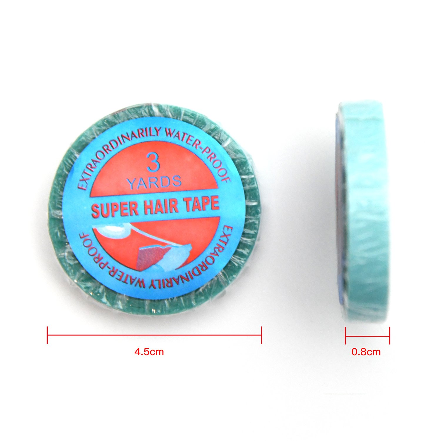 Neitsi 1 Roll 0.8cm*3Yards Blue Super Hair Tape for Hair Extensions (0.8cm*3Yards) LTD