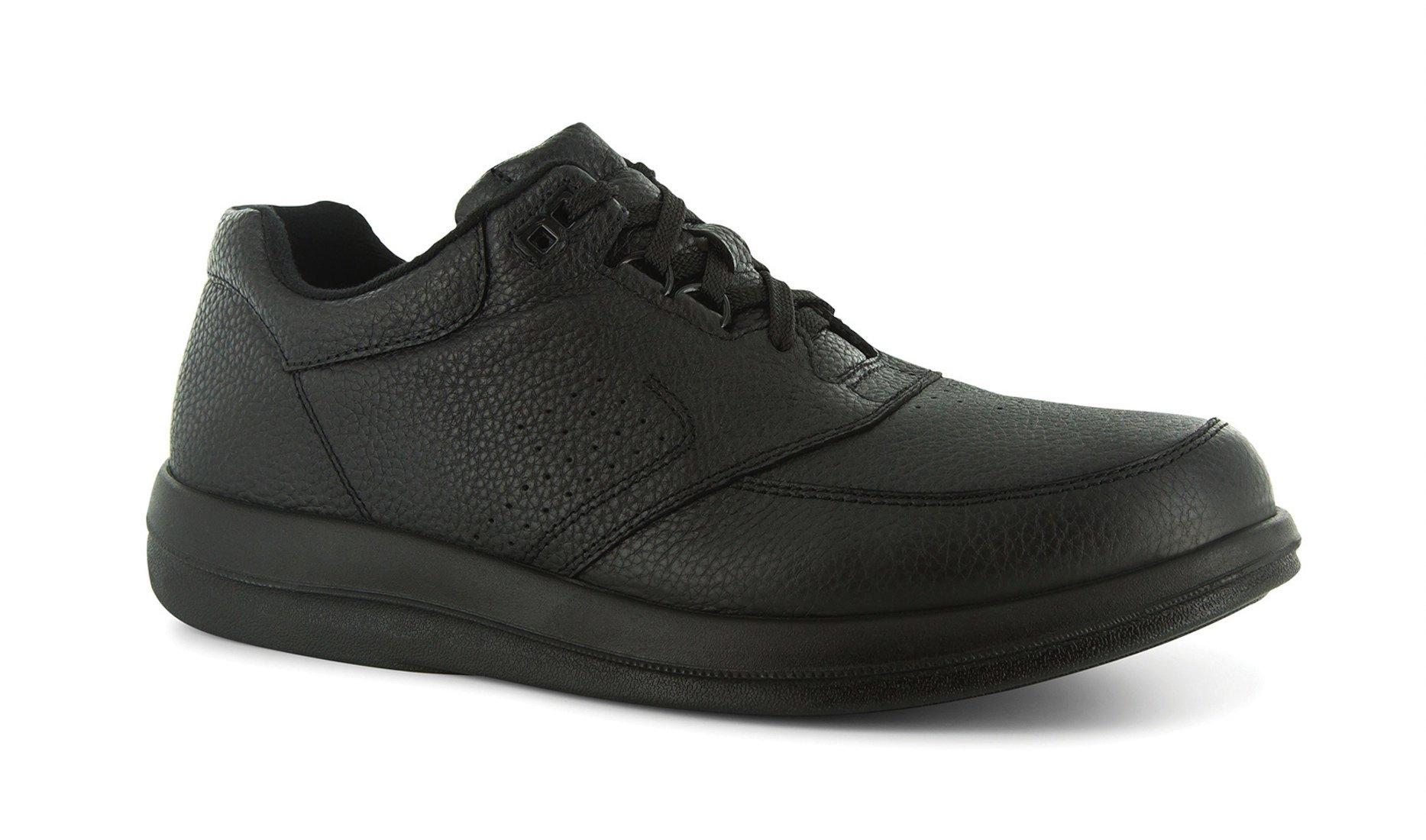 P W Minor Leisure Time Men's Therapeutic Casual Extra Depth Shoe: Black 12.5 X-Wide (2E-3E) Lace