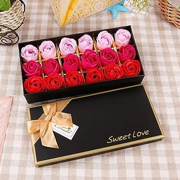 SED Flores Artificiales - Tanabata Día De San Valentín 12 Caja De ...