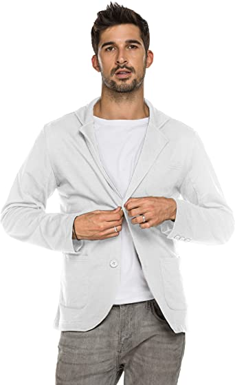 Coofandy Mens Cotton Casual Two Button Lapel Blazer Jacket Lightweight Sport Coat At Amazon Men S Clothing Store
